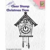 Nellie Snellen - Christmas Time Clear Stamp - Clock - CT012